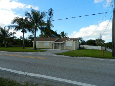 Lake Worth Single Family Home For Sale: 3485 Kirk Road