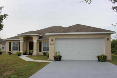 Port Saint Lucie Single Family Home For Sale: 3130 SW Crumpacker Street