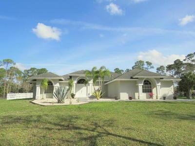 Loxahatchee Single Family Home For Sale: 2558 Palm Deer Drive