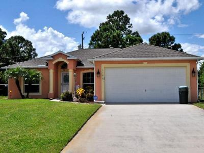 Port Saint Lucie Single Family Home For Sale: 1146 SW Kalevala Drive