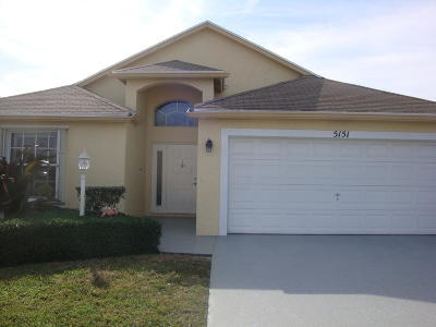 West Palm Beach Single Family Home For Sale: 5151 Robino Circle
