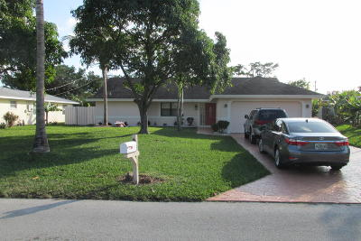 Delray Beach Single Family Home For Sale: 506 Heron Drive