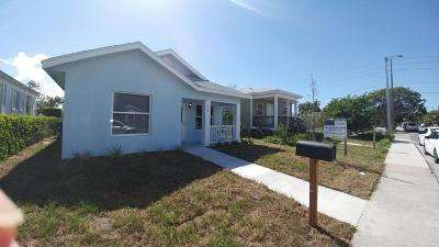 West Palm Beach Single Family Home For Sale: 521 19th Street