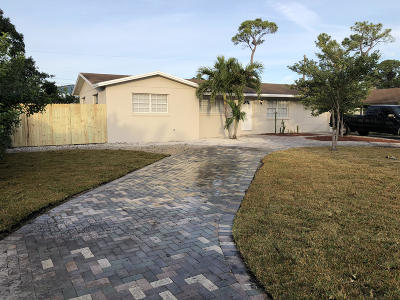 Lake Worth Single Family Home For Sale: 4439 Steven Road