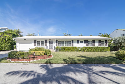 Palm Beach Single Family Home For Sale: 223 Monterey Road