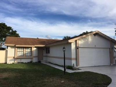 Boynton Beach Single Family Home For Sale: 3 Danby Place