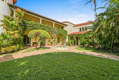 Palm Beach Single Family Home For Sale: 1519 Ocean Way