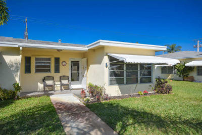 boynton beach Single Family Home For Sale: 3330 Post Road #D