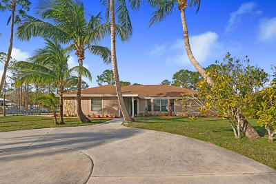Jupiter Single Family Home For Sale: 12335 165th Road