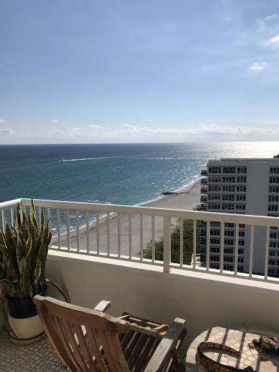 Boca Raton Condo Sold: 600 S Ocean Boulevard #1702