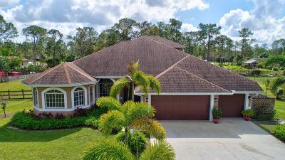 Loxahatchee Single Family Home For Sale: 17920 44th Place