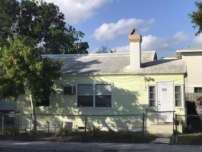 Lake Worth Single Family Home For Sale: 301 H Street