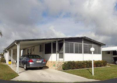 Boynton Beach FL Mobile Home For Sale: $76,900