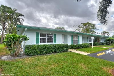 delray beach Single Family Home For Sale: 5094 Privet Place #A