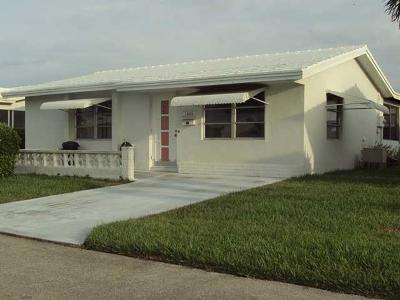 Boynton Beach FL Single Family Home For Sale: $119,000
