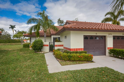 Boynton Beach Condo For Sale: 5447 Palm Springs Lane #A