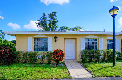 Delray Beach Single Family Home Contingent: 13735 Flora Place #A