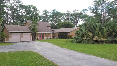 Jupiter Single Family Home For Sale: 11462 161st Street