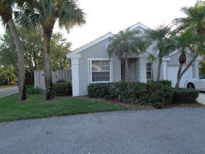 Palm Beach Gardens Single Family Home Contingent: 63 Admirals Court