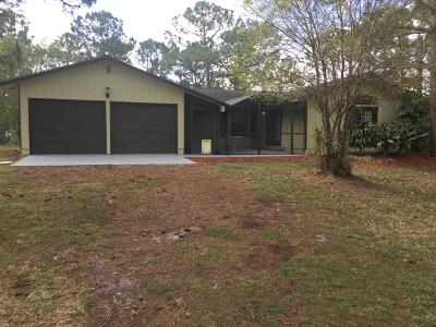 Loxahatchee Single Family Home Contingent: 17496 43rd Road