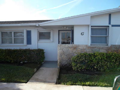West Palm Beach Single Family Home For Sale: 2689 Emory Drive W #G