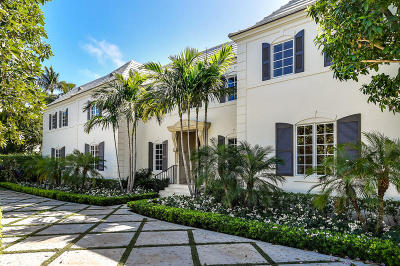 Palm Beach FL Single Family Home For Sale: $8,950,000
