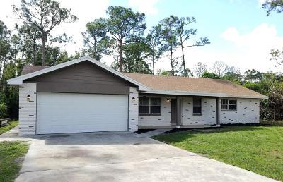 Jupiter Single Family Home For Sale: 12576 169th Court