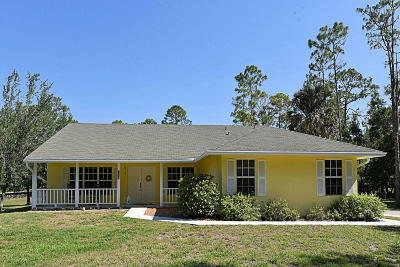 Jupiter Single Family Home For Sale: 12825 174th Court