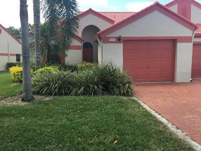Delray Beach Single Family Home For Sale: 7632 Lexington Club Boulevard #A
