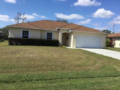 Port Saint Lucie Single Family Home For Sale: 636 NW Sharpe Street