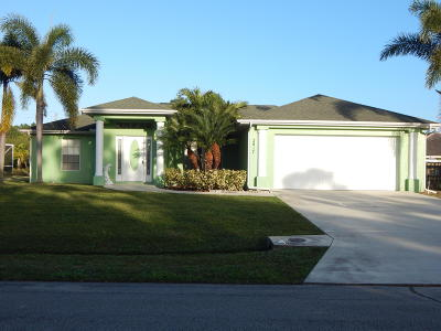 Port Saint Lucie Single Family Home For Sale: 2417 SW Gamberi Street