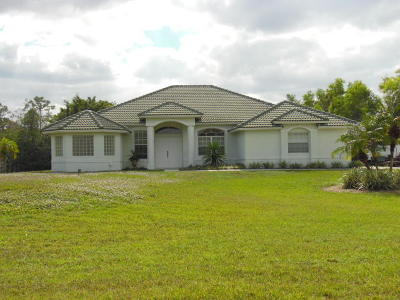 Jupiter Single Family Home For Sale: 11574 152nd Street