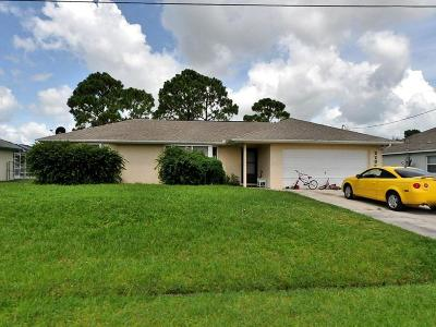Port Saint Lucie Single Family Home For Sale: 2236 SW Plymouth Street