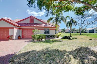 Delray Beach Single Family Home For Sale: 7793 Lexington Club Boulevard #B
