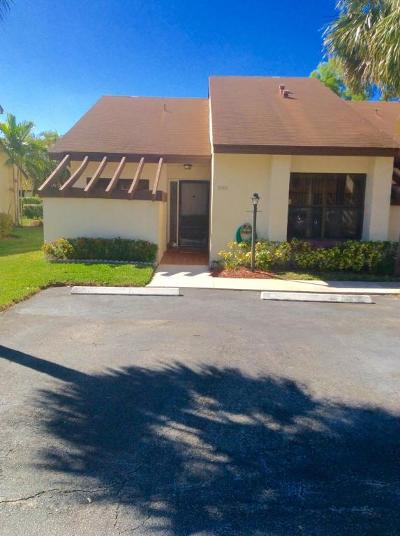 Lake Worth Single Family Home For Sale: 3927 Vine Tree Trail #A