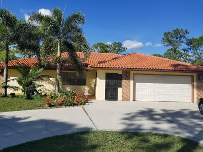 Loxahatchee Single Family Home For Sale: 18975 W Sycamore Drive