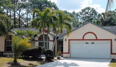 Loxahatchee Single Family Home For Sale: 17110 93rd