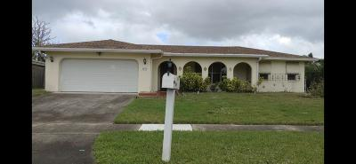 Boca Raton Single Family Home For Sale: 3420 NW 25th Terrace