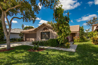 Boca Raton Single Family Home Contingent: 10769 Santa Laguna Drive