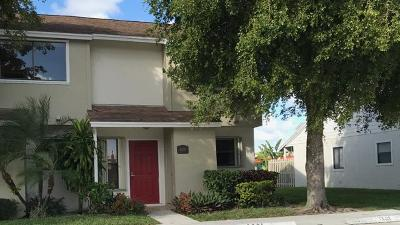 Greenacres Townhouse For Sale: 6001 Channel Drive, Greenacres