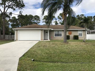 Port Saint Lucie Single Family Home For Sale: 1875 SW Bellevue Avenue