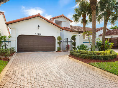 Boca Raton Single Family Home For Sale: 23040 Via Stel