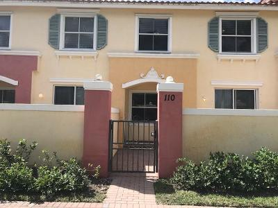 West Palm Beach Townhouse For Sale: 2938 Hope Valley Street #110
