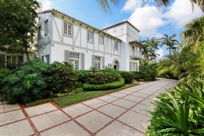 Palm Beach FL Single Family Home For Sale: $8,250,000