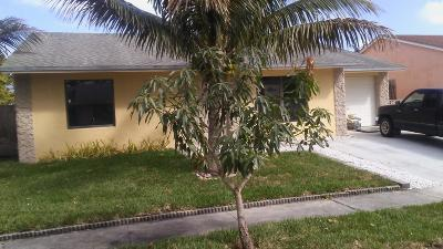 Boynton Beach Single Family Home For Sale: 7384 Palmdale Drive