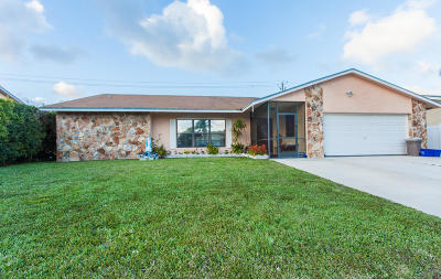 Lake Worth Single Family Home For Sale: 6100 Plains Dr