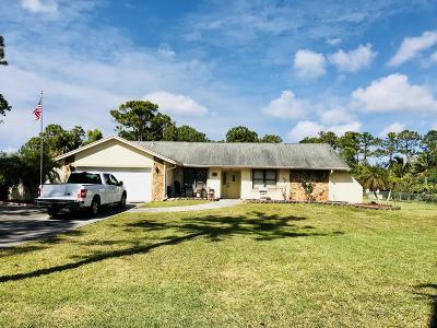 West Palm Beach Single Family Home For Sale: 11479 Orange Grove Boulevard