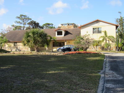 Fort Pierce Single Family Home For Sale: 3746 Whiteway Dairy Road