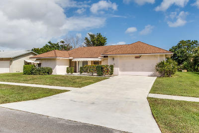 Delray Beach Single Family Home For Sale: 14750 Wood Lodge Lane