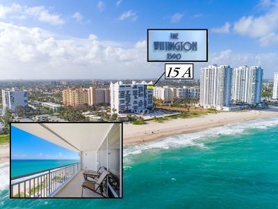 Pompano Beach Condo For Sale: 1390 S Ocean Boulevard #15a